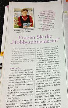 Anna OZ-Verlag Fragen Sie die Hobbyschneiderin Anne Liebler