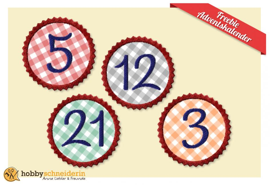 Freebie Sticken Applikation Advent