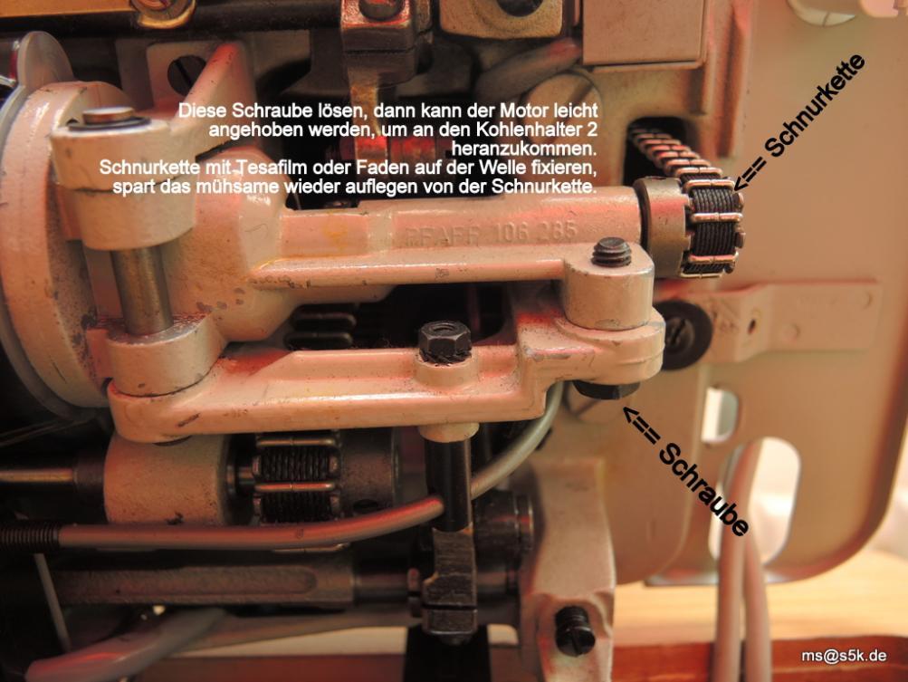 Pfaff Nähmaschine Sicherungsschraube