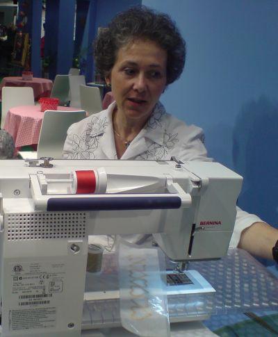 Freihandsticken mit der Nähmaschine