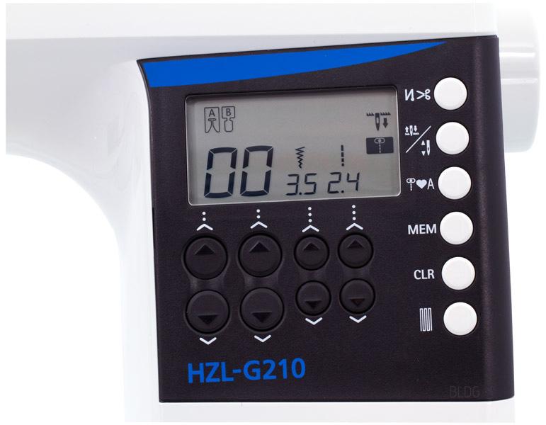 JUKI HZL-G210 Display