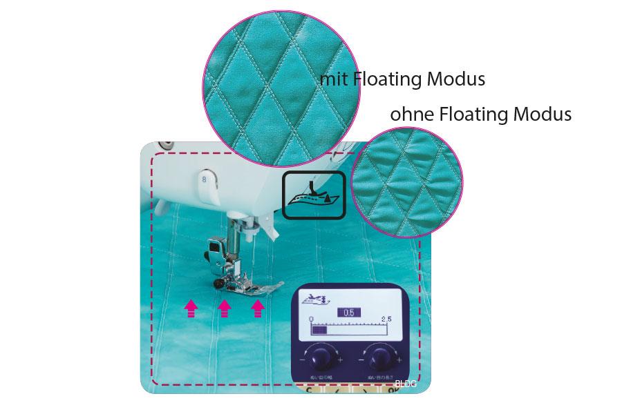 JUKI HZL-DX5 Floating-Modus