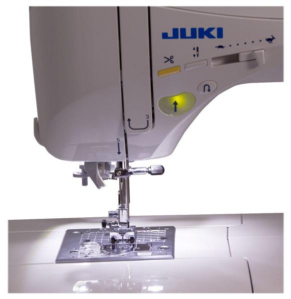 JUKI HZL-DX5 LED-Ausleuchtung des Nähbereiches