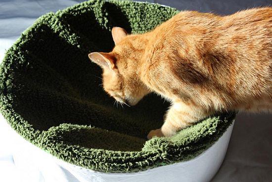 Katzenkorb selbst gemacht