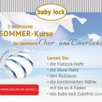 Babylock Kurse Sommerkurs Overlockkurs Coverlockkurs