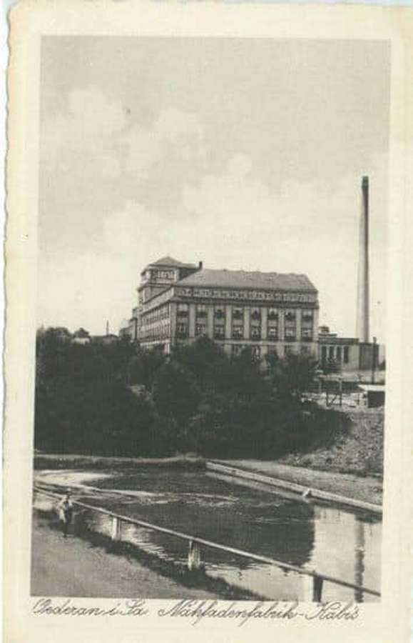 Historische Ansicht der Nähfadenfabrik
