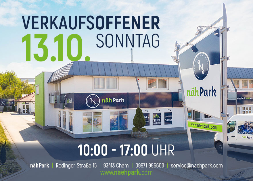 13.10.2019 Verkaufsoffener Sonntag Nähpark Bernina-Overlocktage