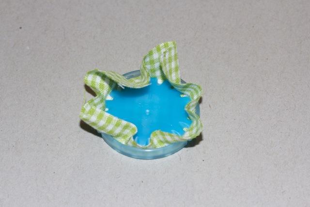 Clover Schablone Stoff einklemmen