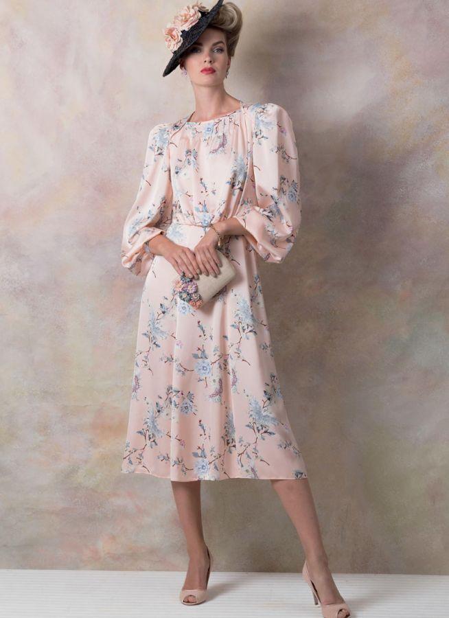 V9295 VOGUE Vintage Schnittmuster Kleid 40er Jahre