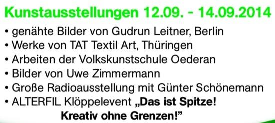 Kunstausstellung Gudrun Leitner, Berlin, Alterfil