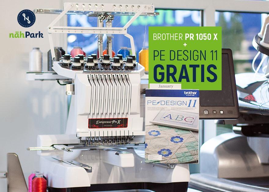 Brother PR 1050 X mit Software PE Design 11
