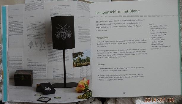 Biene Fliege Kreuzstich Lampenschirm