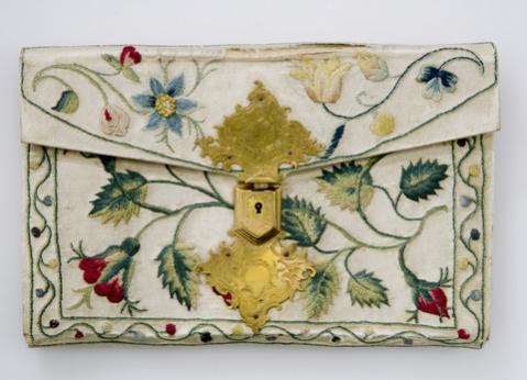 Brieftasche mit Seidenstickerei