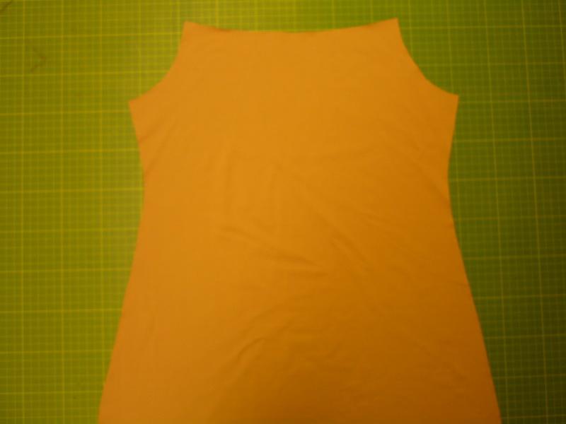 Zuschnitt Rücken