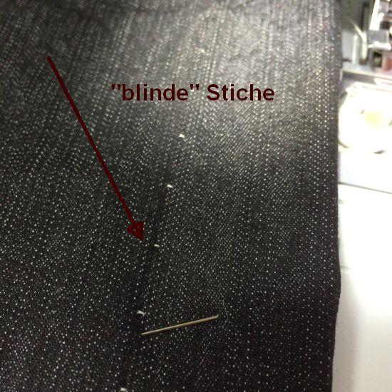 Blindstich fertig Aussenseite