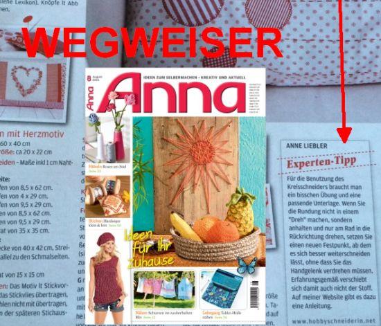 Anna Wegweiser Kreisschneider
