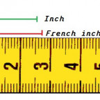 french inch cm Pouce nähen