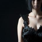 Kleid Mode aus Lakritze