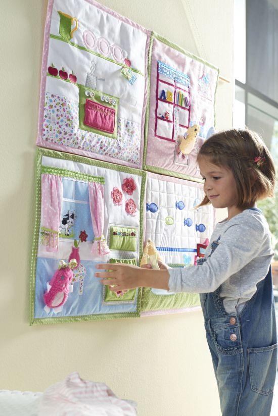 Puppenhaus Mädchen Kinderzimmer Ordnungssystem und Spielsystem