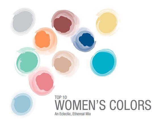 Pantone Top 10 Womens Colors